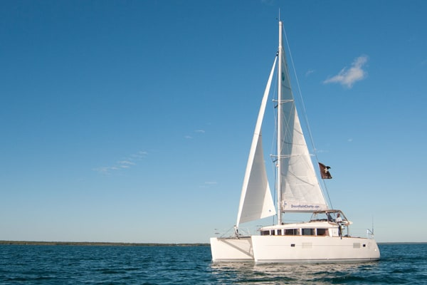 Lagoon 400 catamaran purchased by doug with help of stephen cockcroft yacht broker