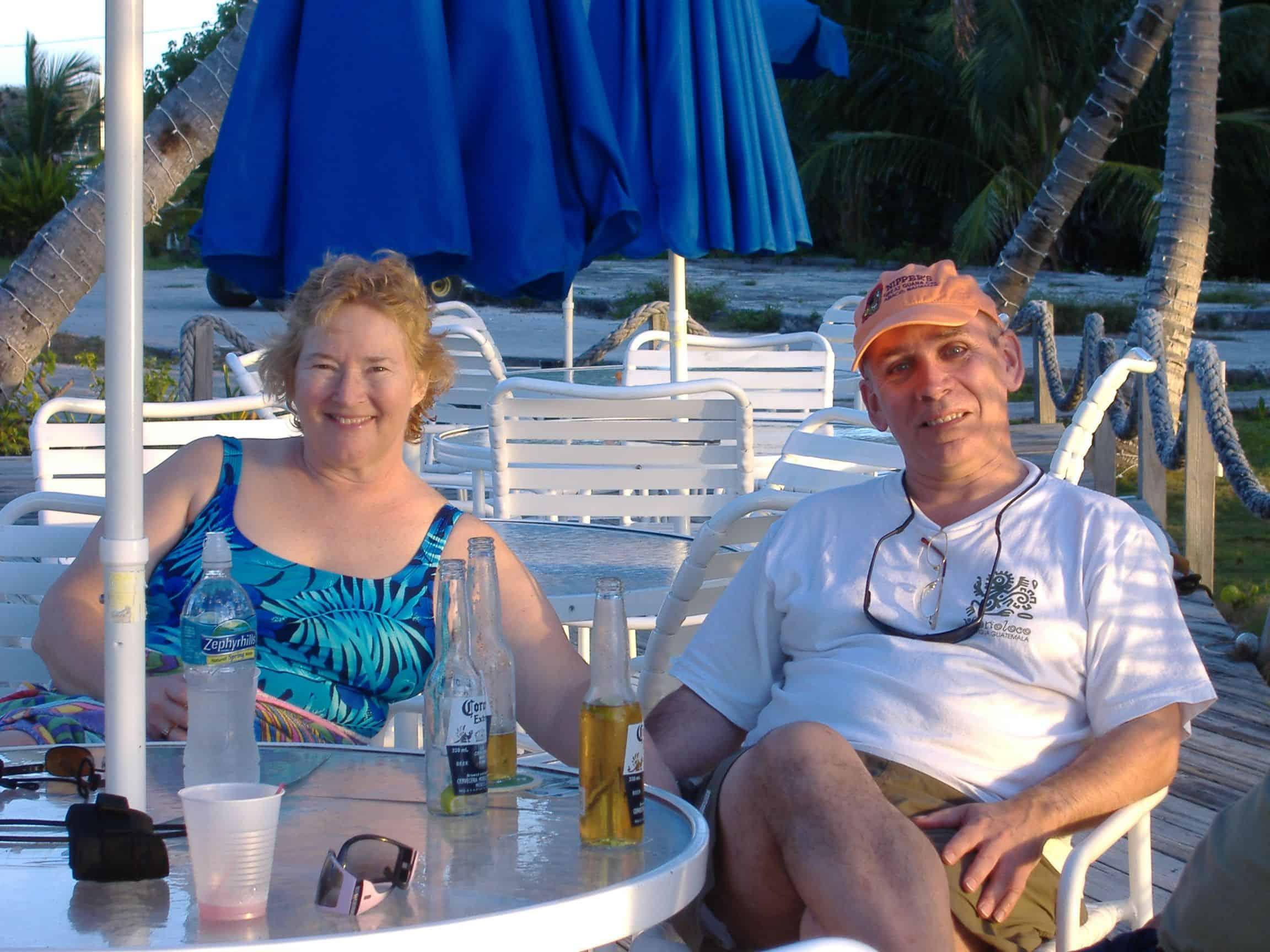 happy catamaran buyers, George & Sarah