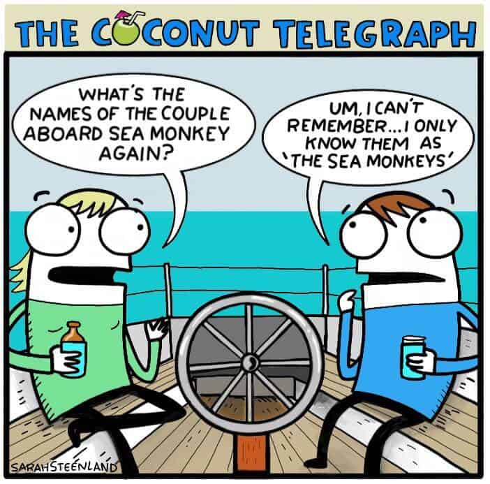 cartoon about being known by your boat's name