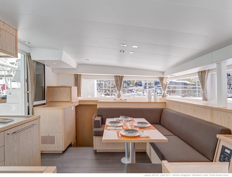lagoon 400 s2 is an interior redesign of the original Lagoon 400
