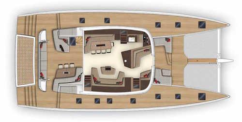 Lagoon Seventy7 Deck Plan and Cockpit