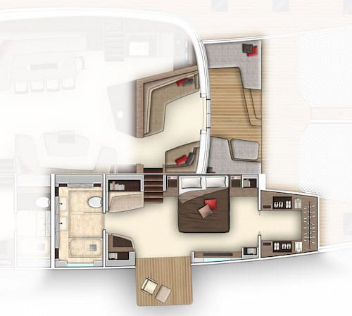 Lagoon Seventy7 Owners cabin plan