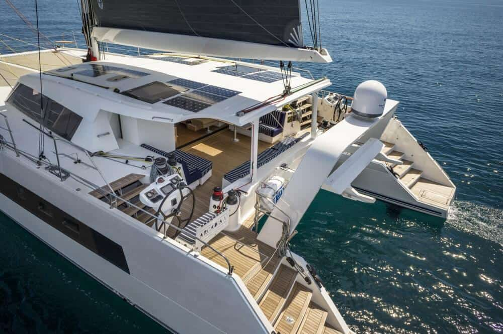 catana 70 aft view from above