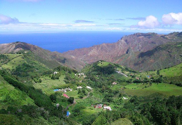 st helena island topography