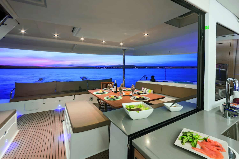 Saba 50 Catamaran exterior deck