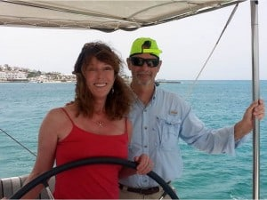 lady katlo yacht charter owners at the helm