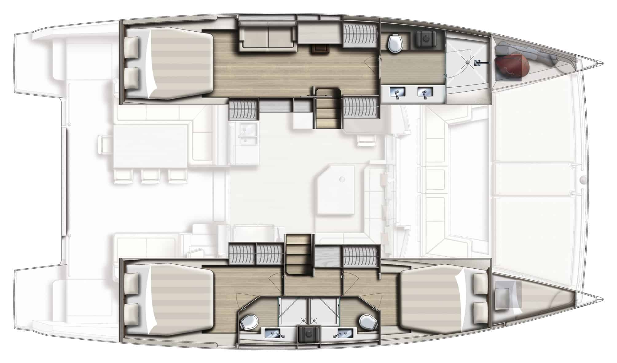 bali 4.5 with 3 cabin configuration
