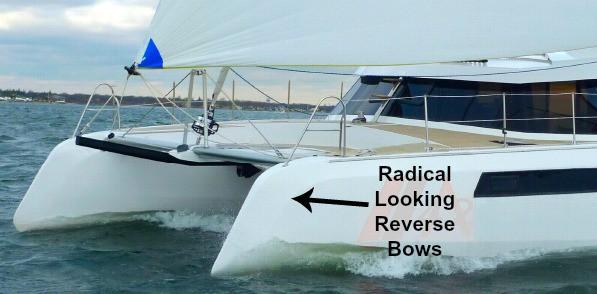 Catamaran Reverse Bows