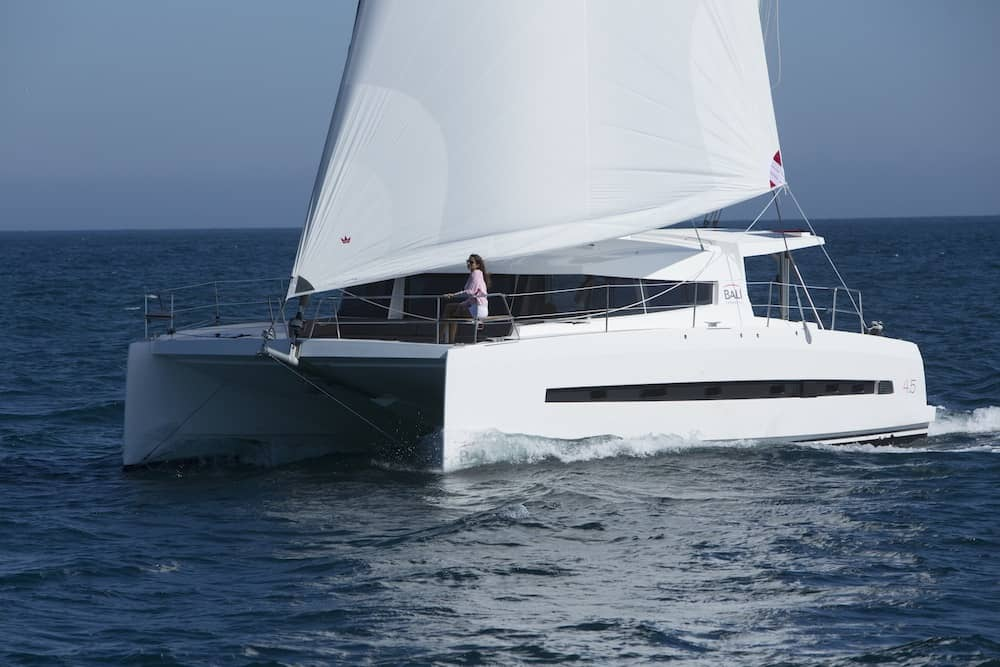 bali 4.5 catamaran test sail and review