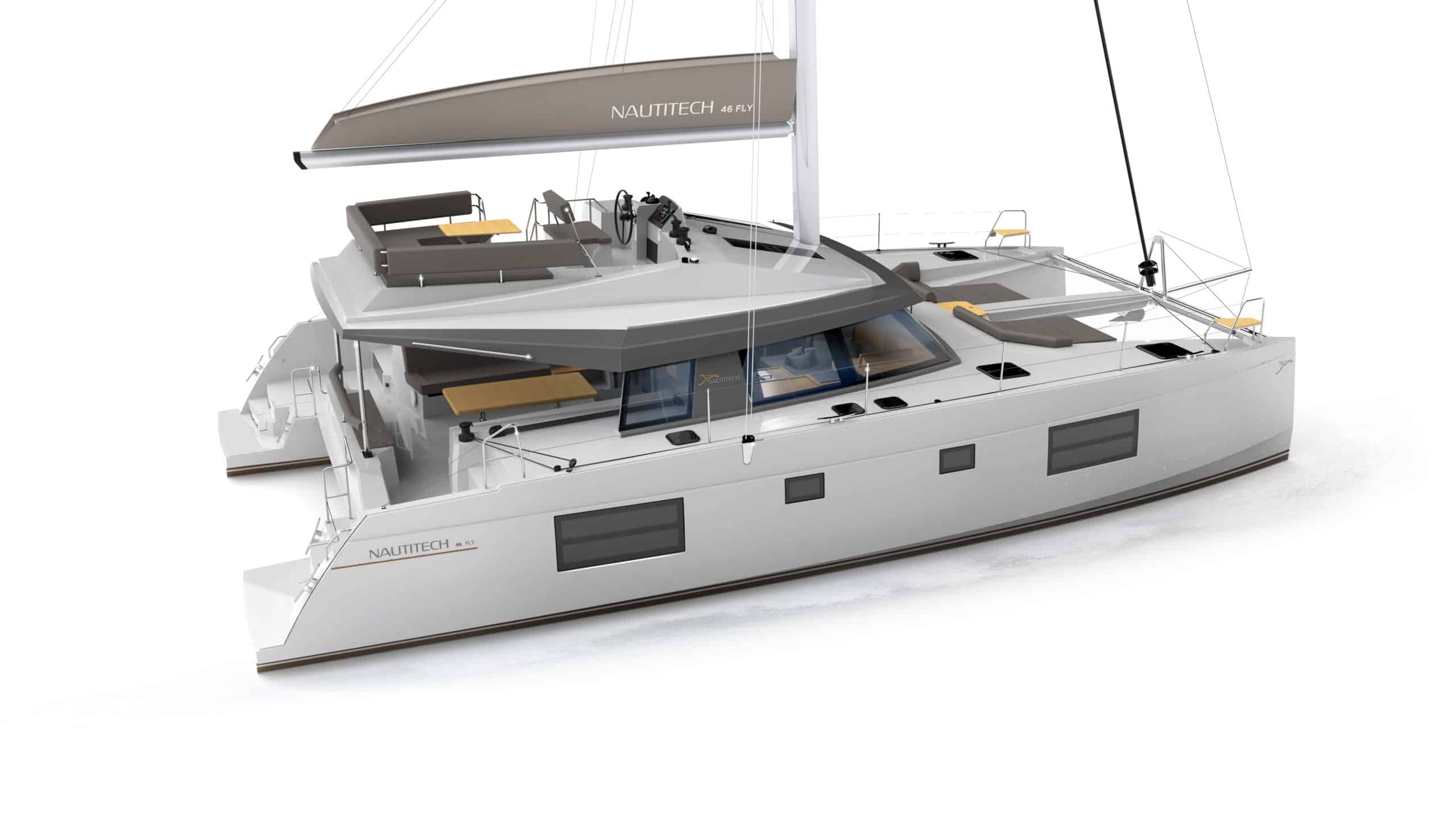 nautitech 46 flybridge model catamaran