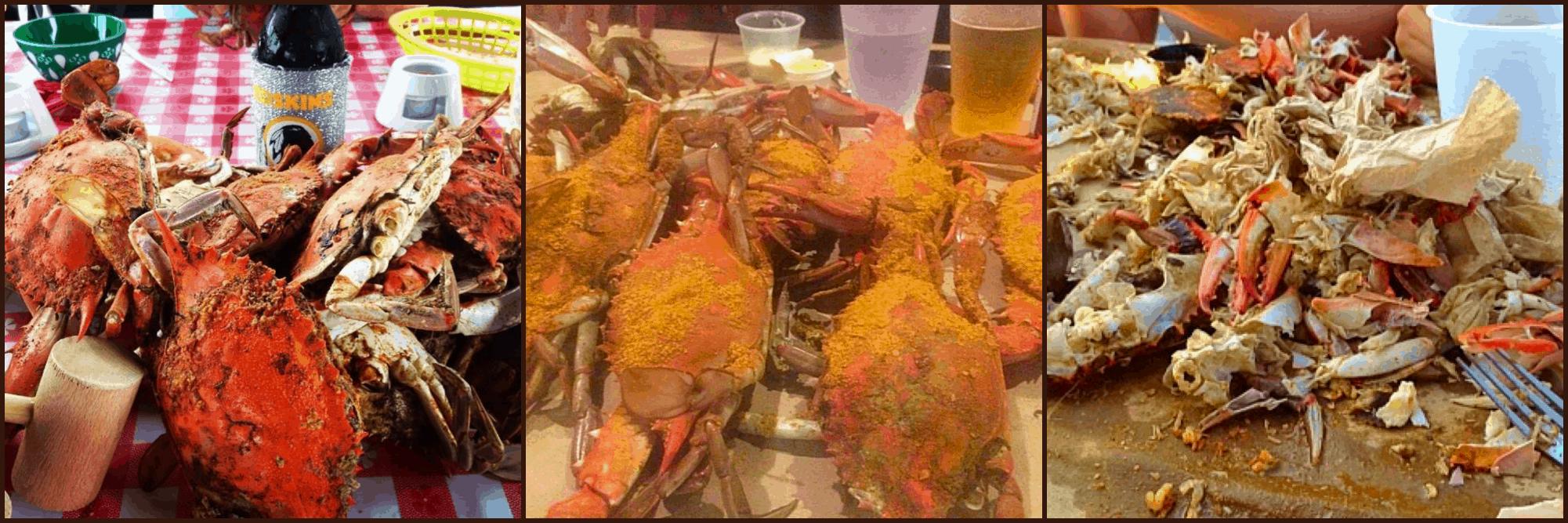 Crab picking