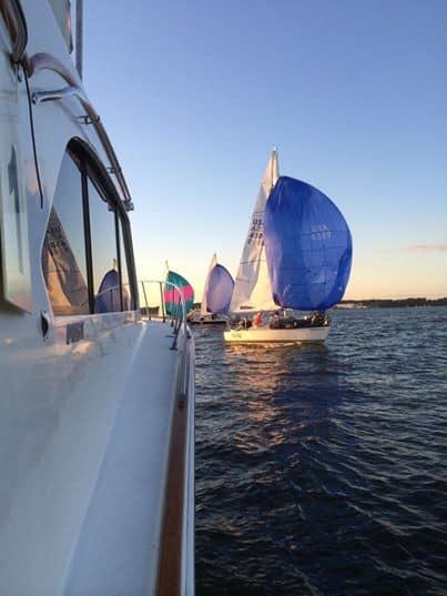 sailboat Racing in chesapeake bay