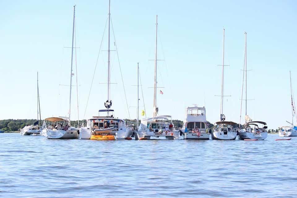 Chesapeake sailing and raft up