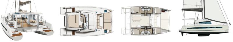 bali 4.3 catamaran layout
