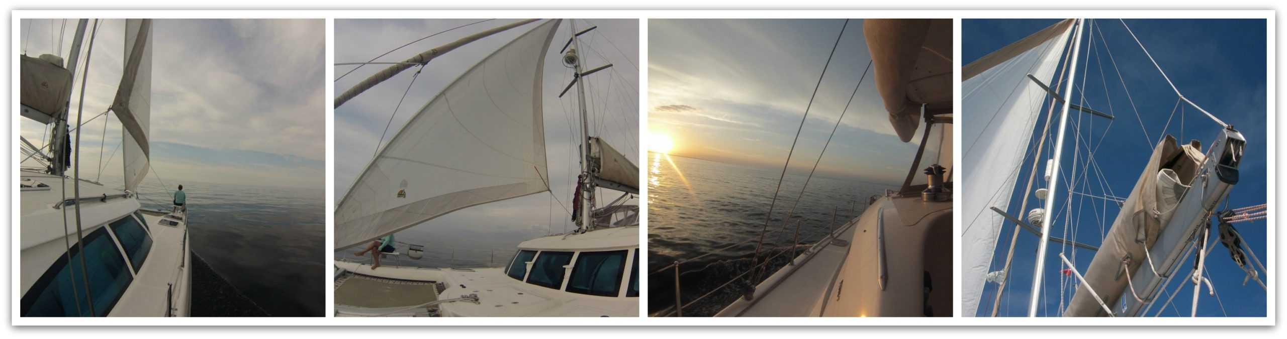 we make ocean passages aboard our catamaran zuri