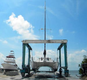 catamaran winterizing at dry dock can mean substantial savings to buy during off season