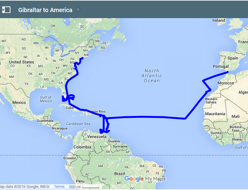 sailing atlantic ocean crossing