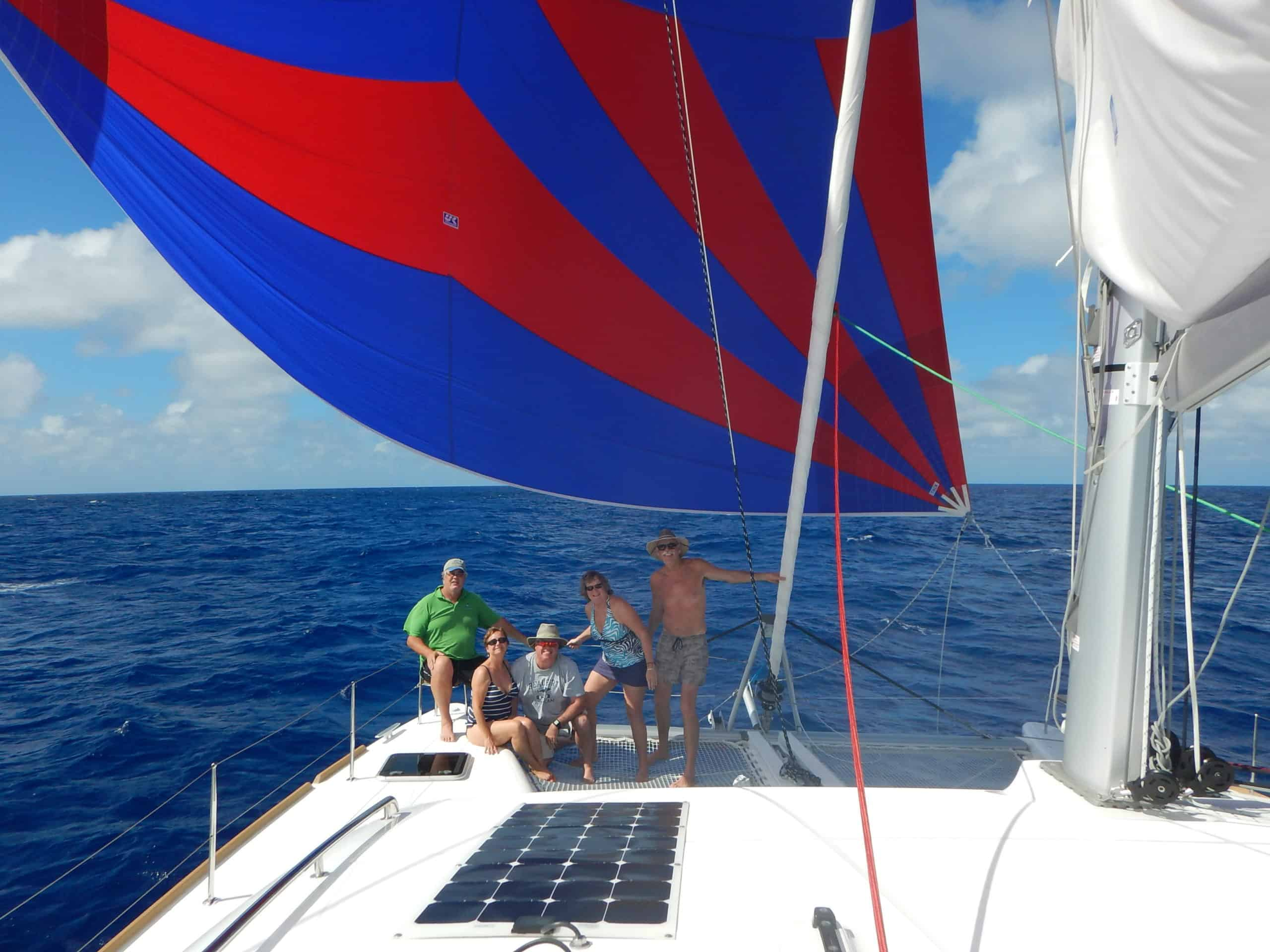 Crew and spinnaker