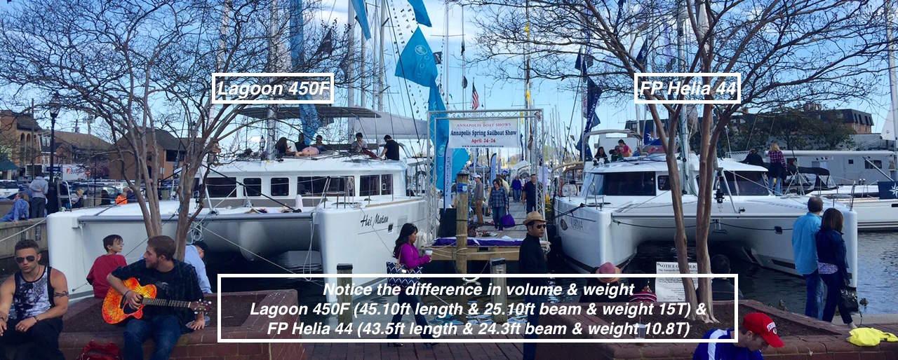 Lagoon 450S vs Helia 44