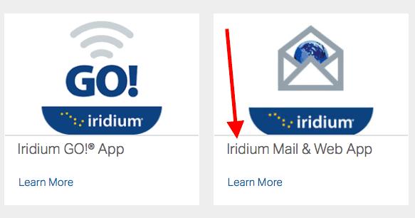 IridiumGo Mail and Web App