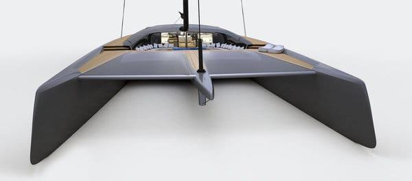 blackcat catamaran concept features an expansive unobstructed main deck