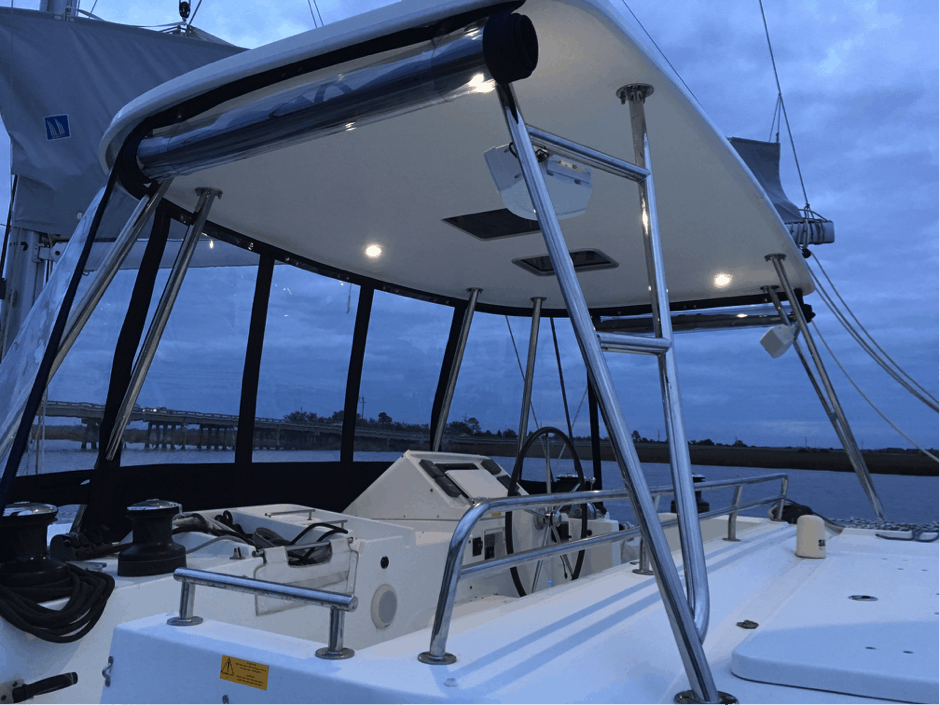 custom Bimini hardtop for catamarans