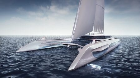eco catamaran concept design by rene gabrielli, slovakian designer