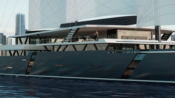 sea voyager 223 concept catamaran, sv223, decks provide expansive interior and outdoor living spaces