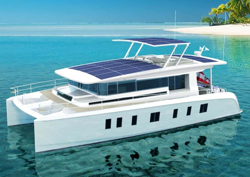 sunwave 54 solar catamaran