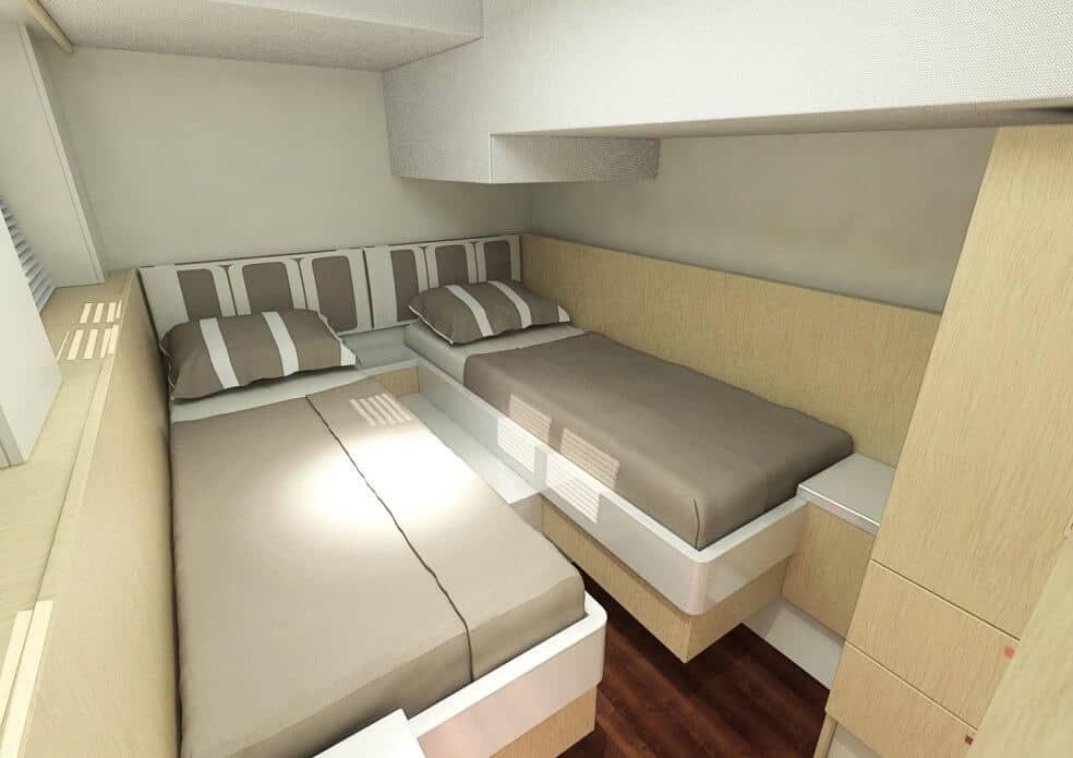sunwave 54 twin cabin