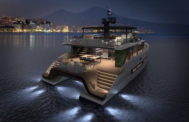 picchio boat concept catamaran aft
