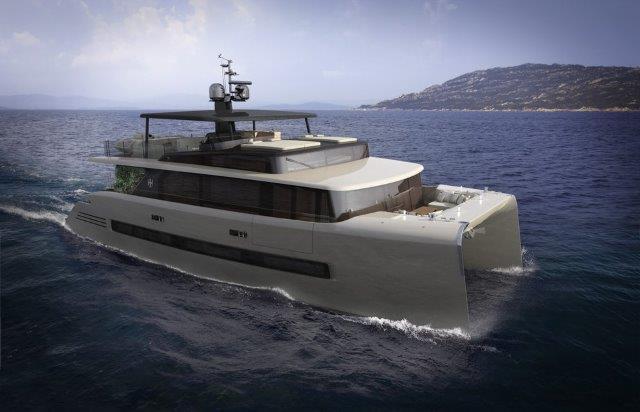 picchio boat concept catamaran hybrid engine powered