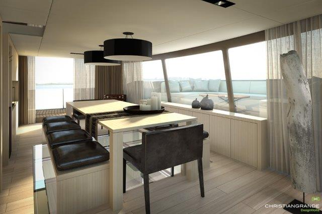picchio boat concept catamaran offers immense indoor and outdoor living spaces