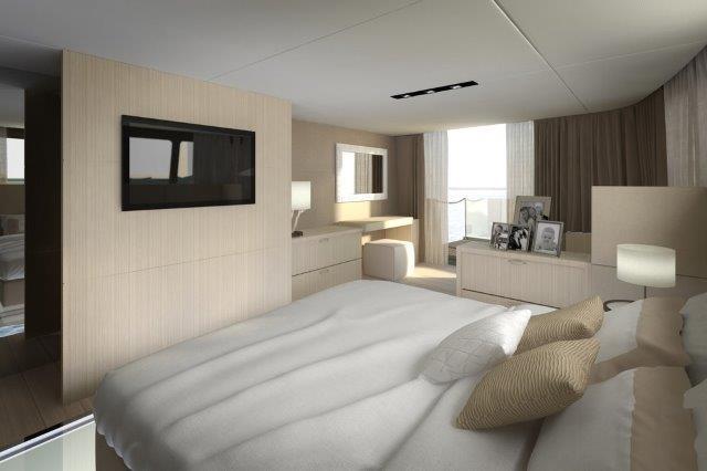 woodpecker boat concept catamaran picchio master stateroom
