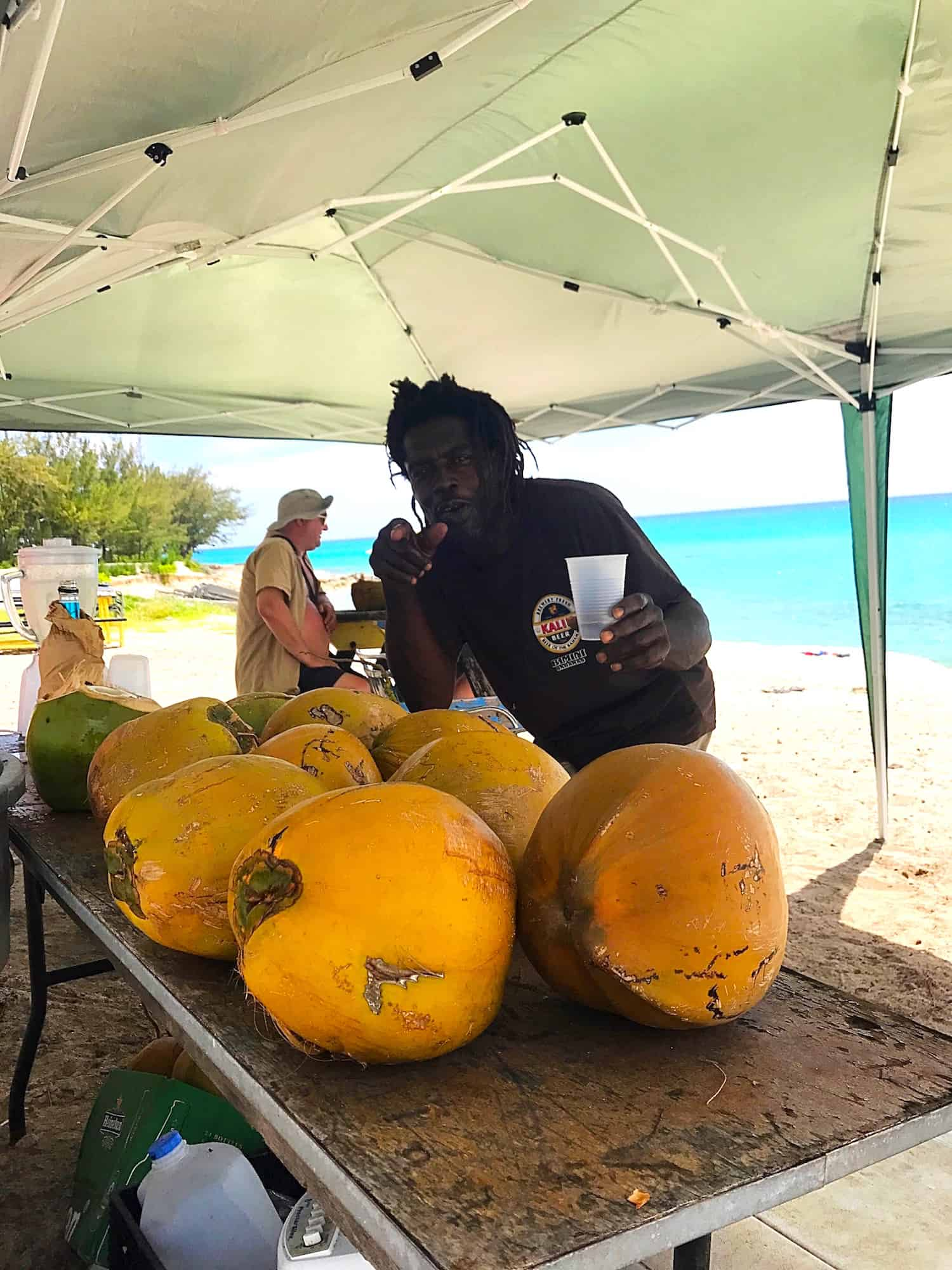 Coconut rum is a beach cocktail specialty served during the abaco regatta time