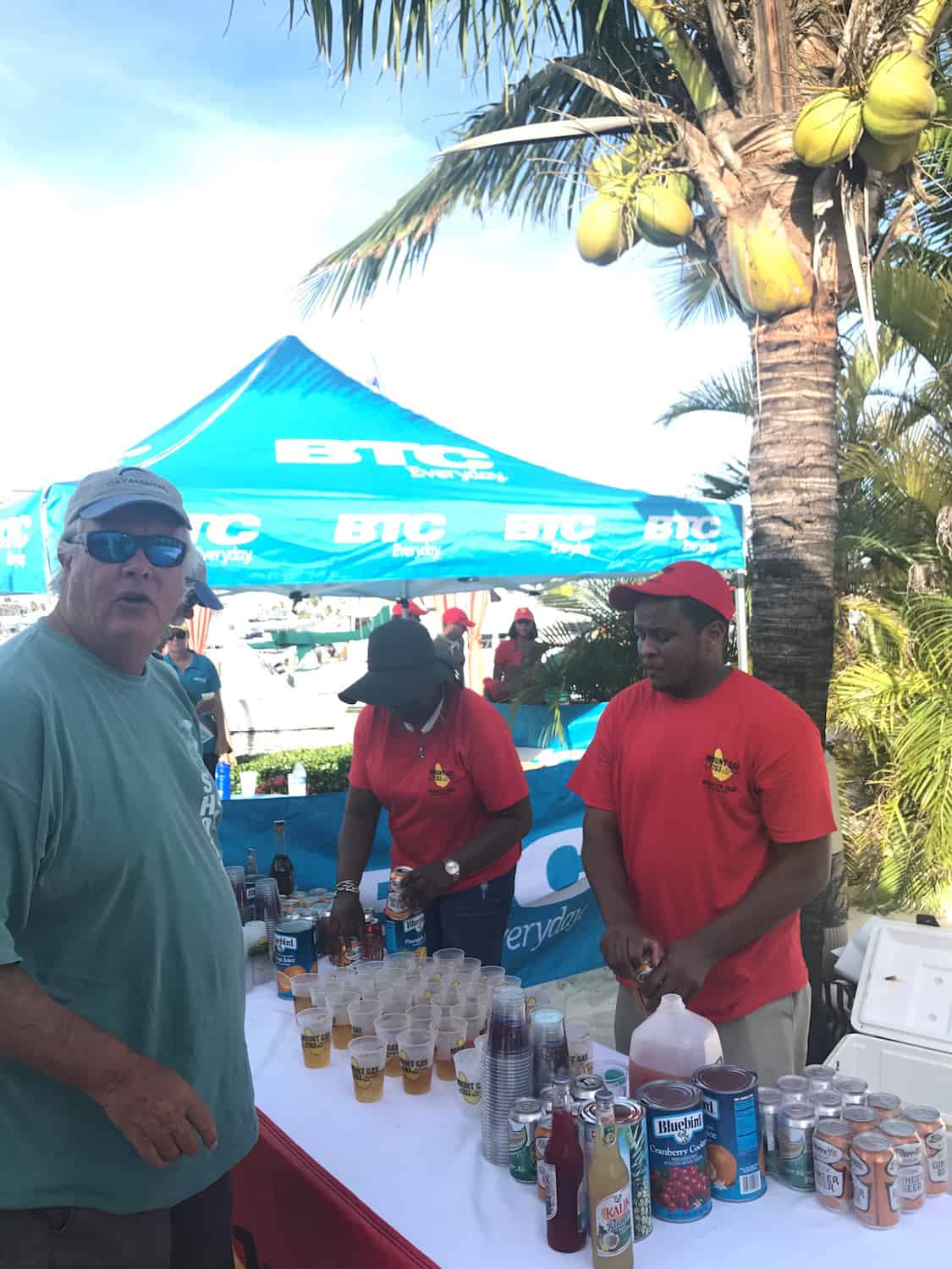 Mount Gay Rum flowing at the abaco Sailing Regatta