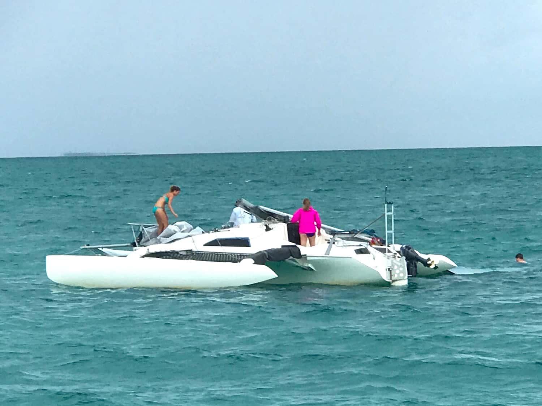 trimaran sailing in the abacos regatta