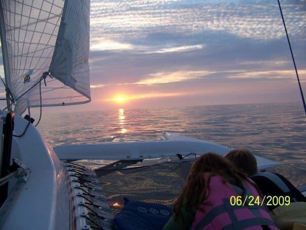 Corsair trimaran sailing