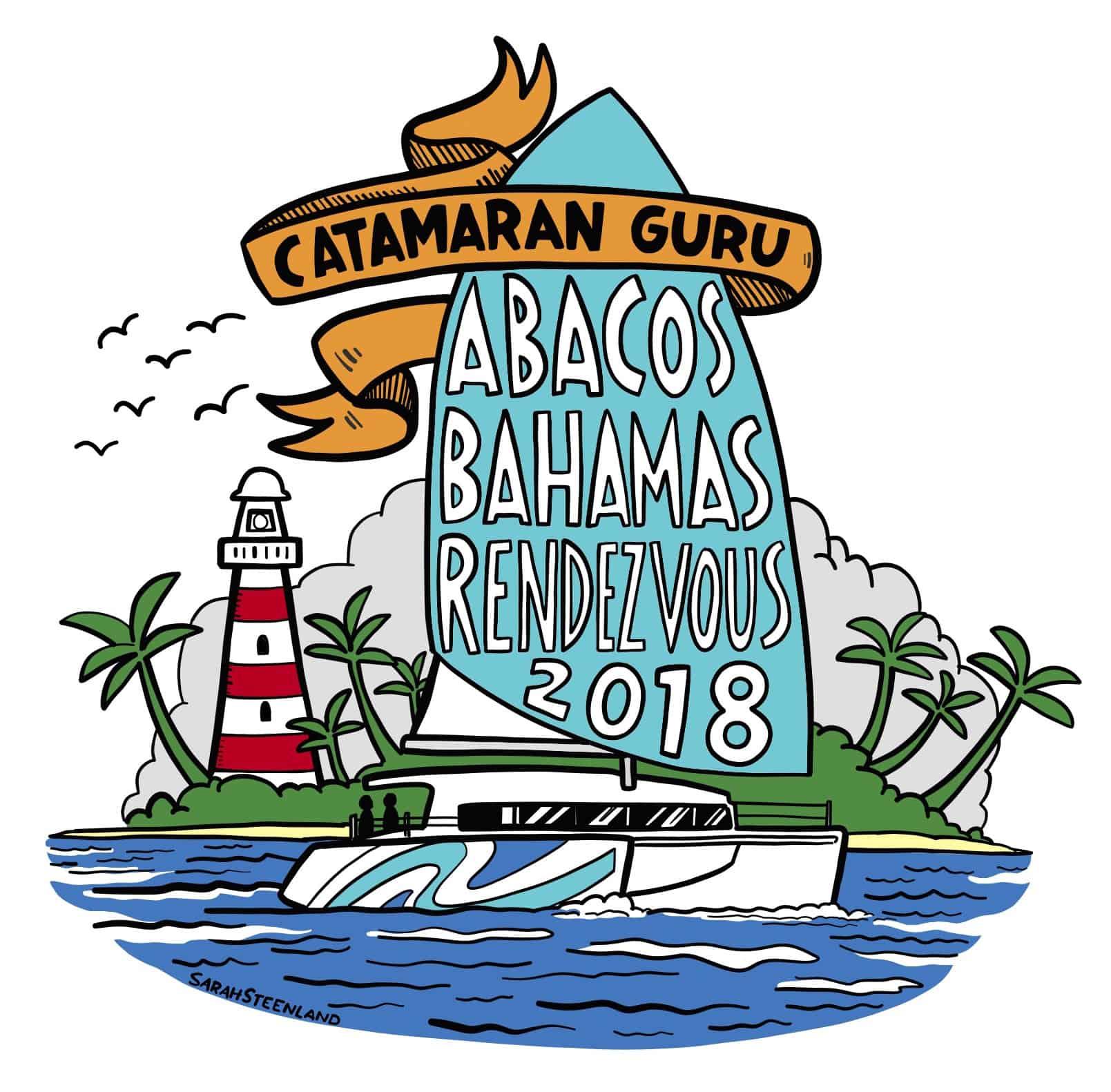 Catamaran Guru Rendezvous in the abacos for 2018