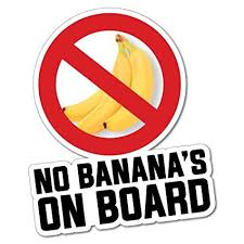 no bananas on board is a sailing superstition