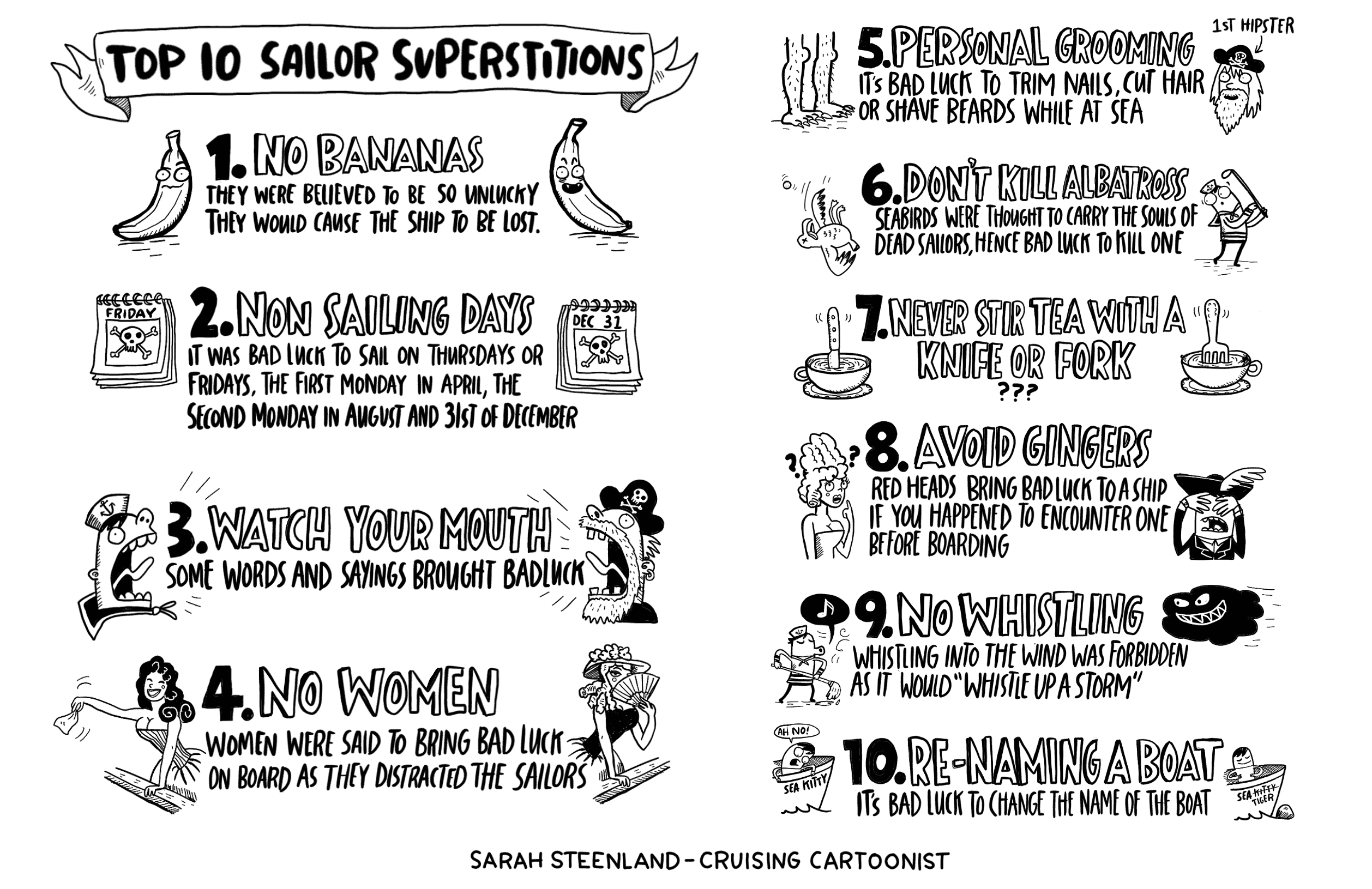 top ten sailing superstitions comic