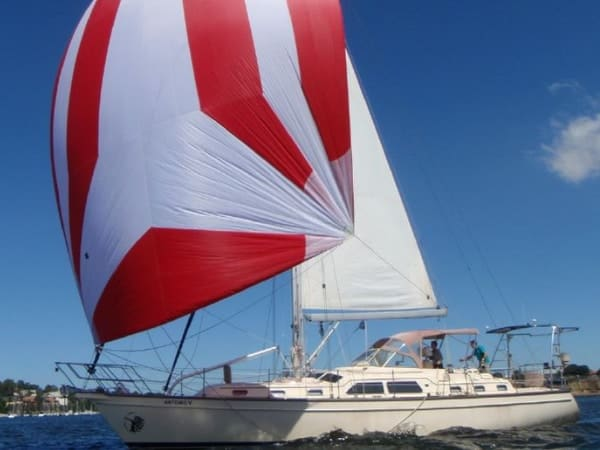 our first yacht buying experience was artemis v, an island packet 485