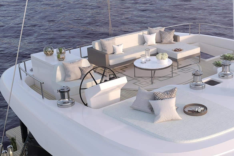sunreef 50 cockpit lounge