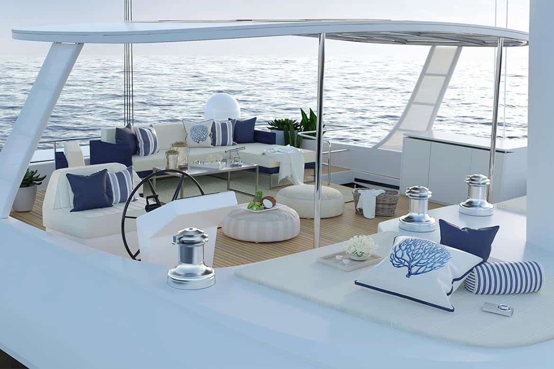 sunreef 60 cockpit lounge