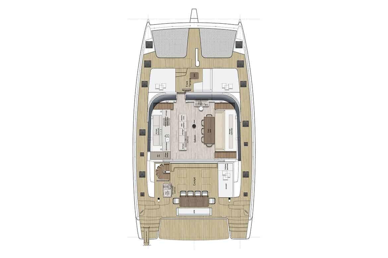 sunreef 60 deckhouse layout option 1