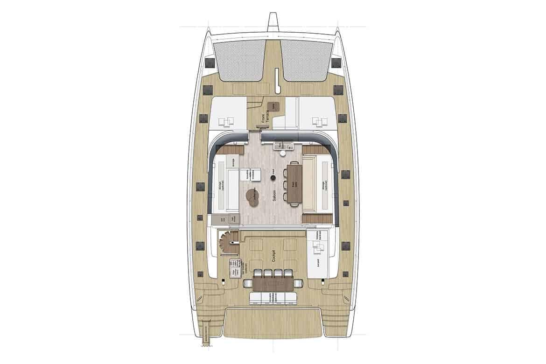sunreef 60 deckhouse layout option 2