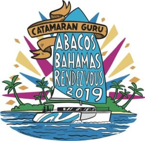 logo for Catamaran Guru Rendezvous in the Abacos 2019