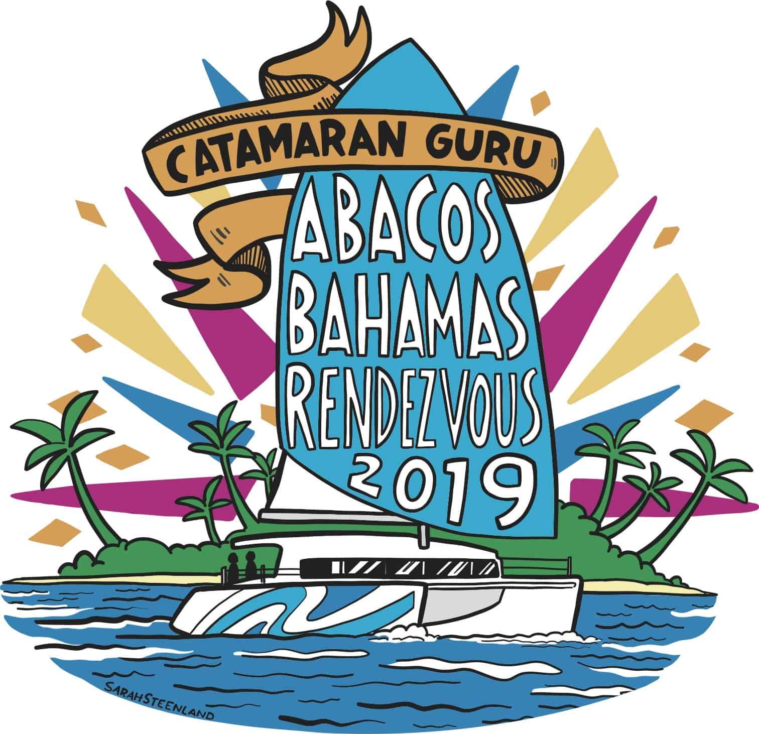 logo for Catamaran Guru Rendezvous in the Abacos 2019