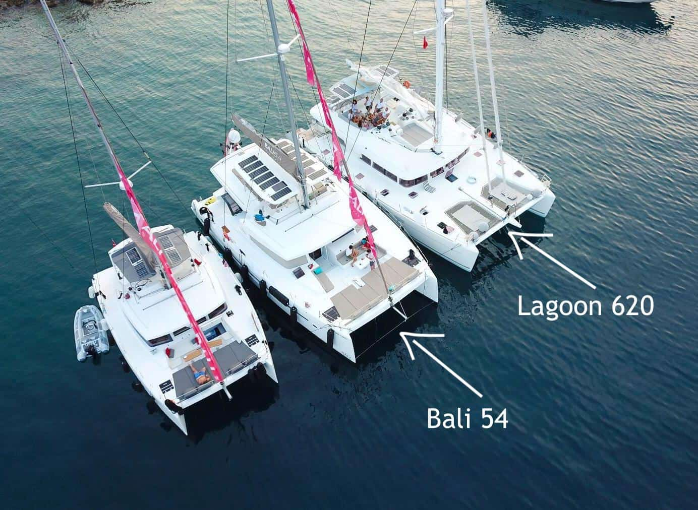 Bali 5.4 catamaran comparisons
