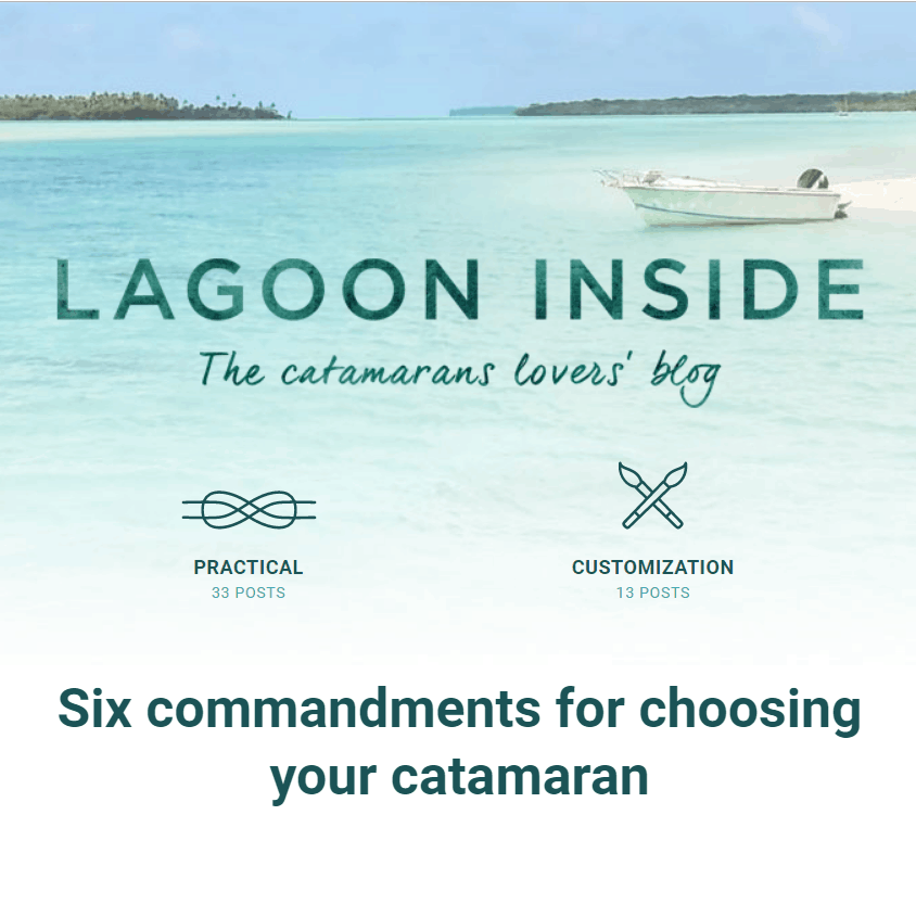 catamaran guru featured in lagoon inside blog giving advice on choosing a catamaran